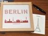 Buchstabengrafik Sehenswürdigkeiten Berlin
