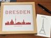 Buchstabengrafik Sehenswürdigkeiten Dresden