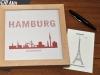 Buchstabengrafik Sehenswürdigkeiten Hamburg