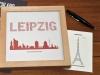 Buchstabengrafik Sehenswürdigkeiten Leipzig