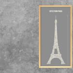 Neue Buchstabengrafik – Eiffelturm Paris