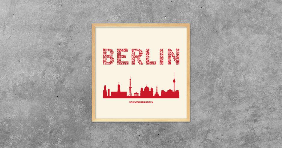 Buchstabengrafik Berlin - Sehenswürdigkeiten