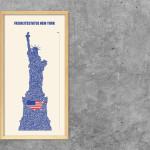 Buchstabengrafik Freiheitsstatue New york