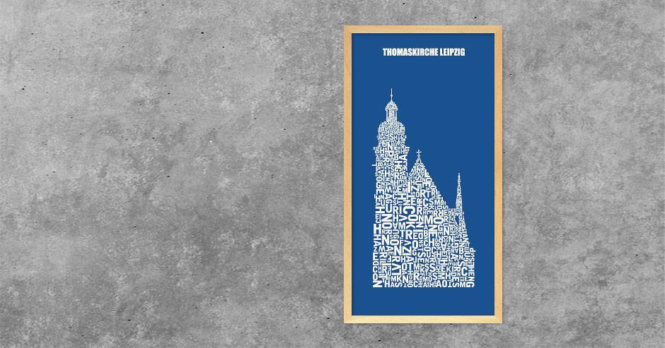 Buchstabengrafik Thomaskirche Leipzig