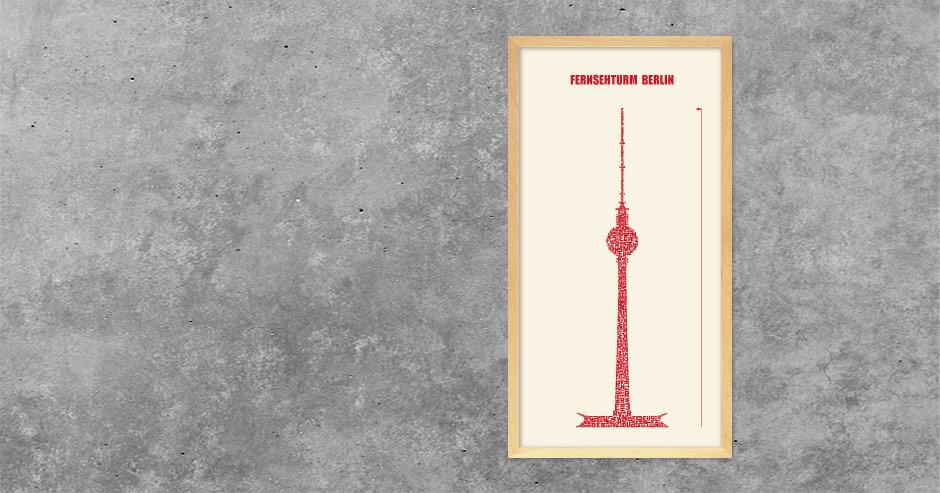 Grafik Fernsehturm Berlin