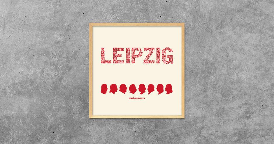 Buchstabengrafik Leipzig - Persönlichkeiten