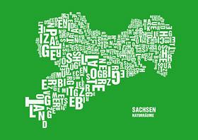 Buchstabengrafik Naturräume Sachsen