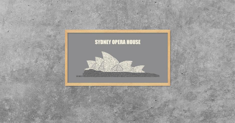Buchstabengrafik Sydney Opera House