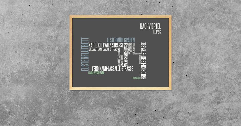 Typografik Bachviertel Leipzig