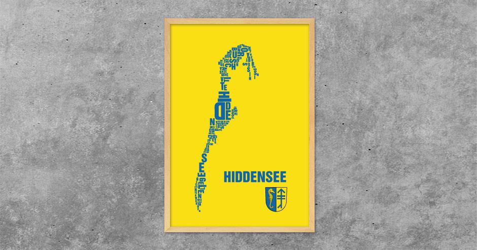 Hiddensee Buchstabengrafik