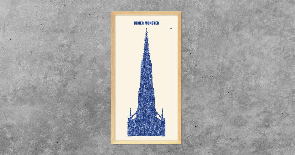 Ulmer Münster Buchstabengrafik