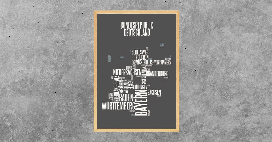 typographische Darstellung Deutschland