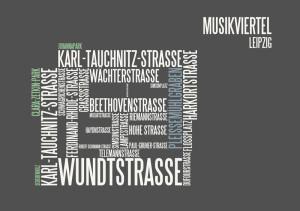 typographische Darstellung Musikviertel Leipzig