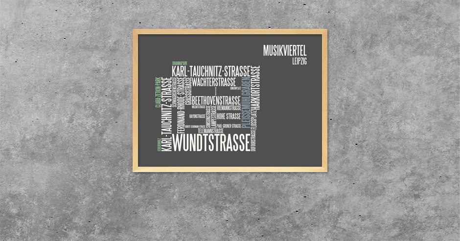 Typografik Musikviertel Leipzig