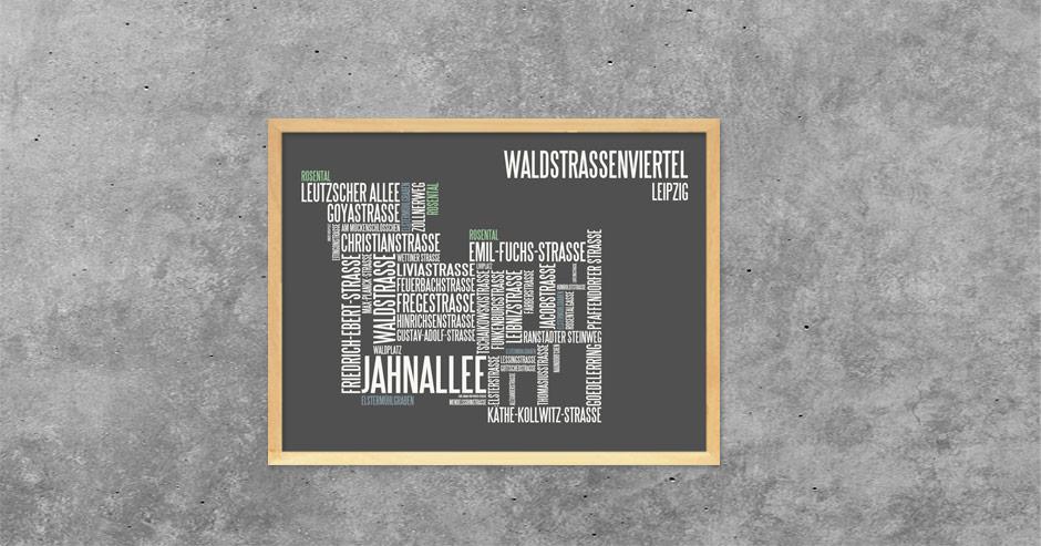 Typographie Waldstraßenviertel Leipzig