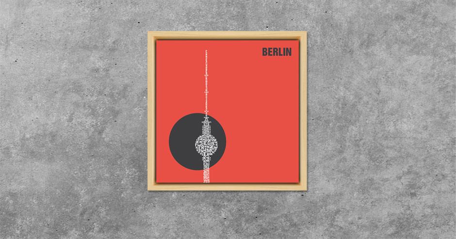 Berlin Buchstabengrafik