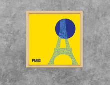 Buchstabengrafik Paris
