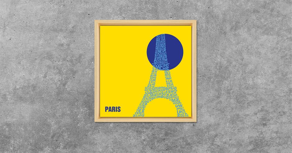 Paris Buchstabengrafik Kreis