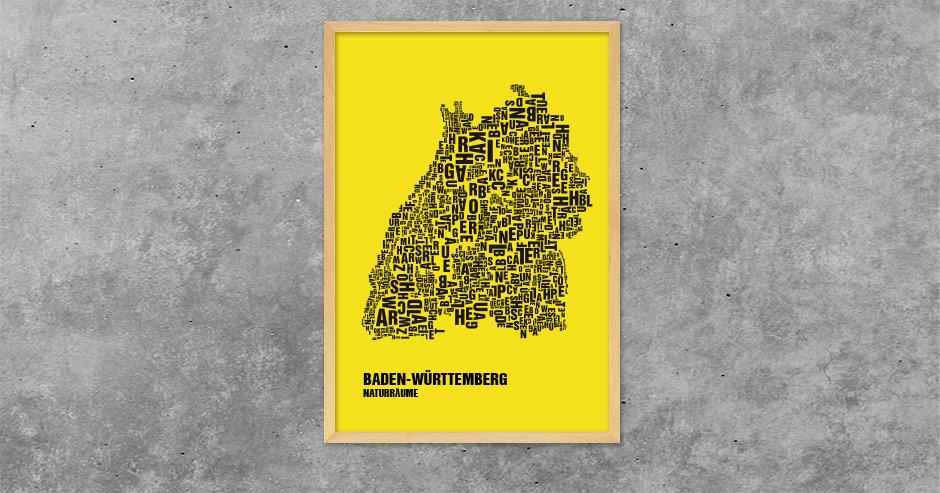 Buchstabengrafik Naturräume Baden-Württemberg