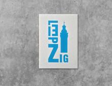 Buchstabengrafik Leipzig – Neues Rathaus